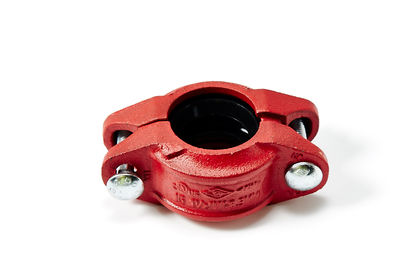 Grooved couplings pipe fitting red or galvanised mm