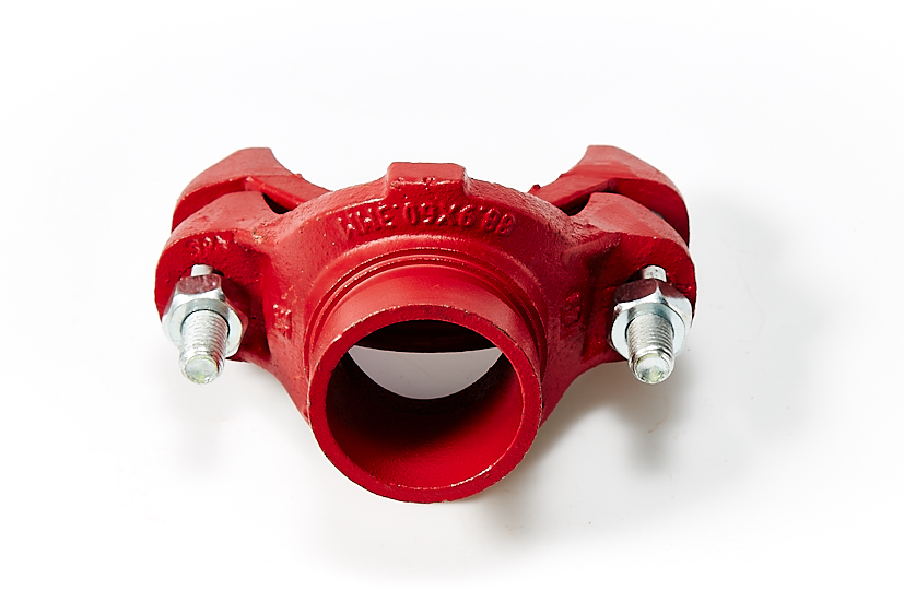Mechanical tee grooved outlet red or