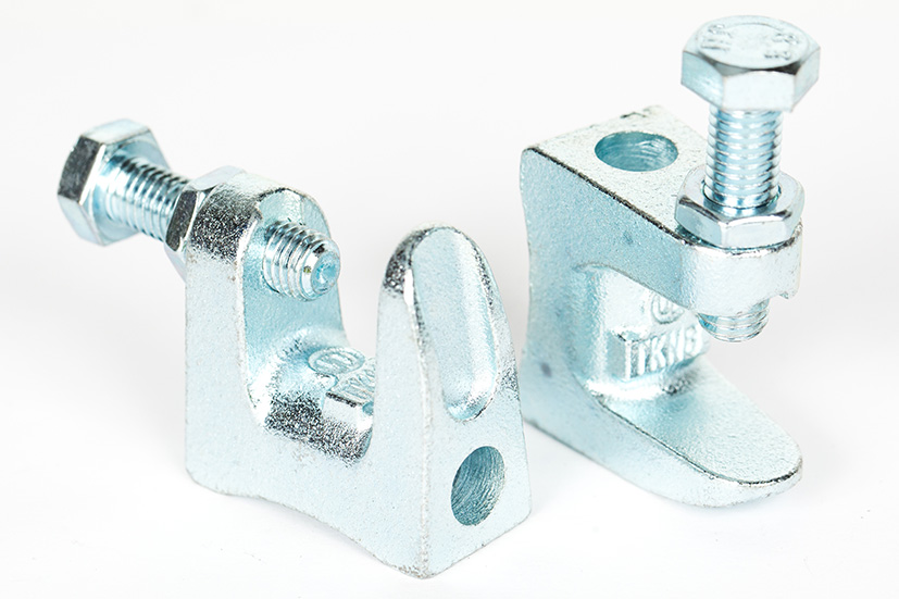 Beam clamps bright zinc plated m fm